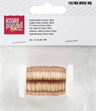 Knorr Prandell 6465790 Draht, 185 m/0.25 mm Durchmesser, kupfer ...