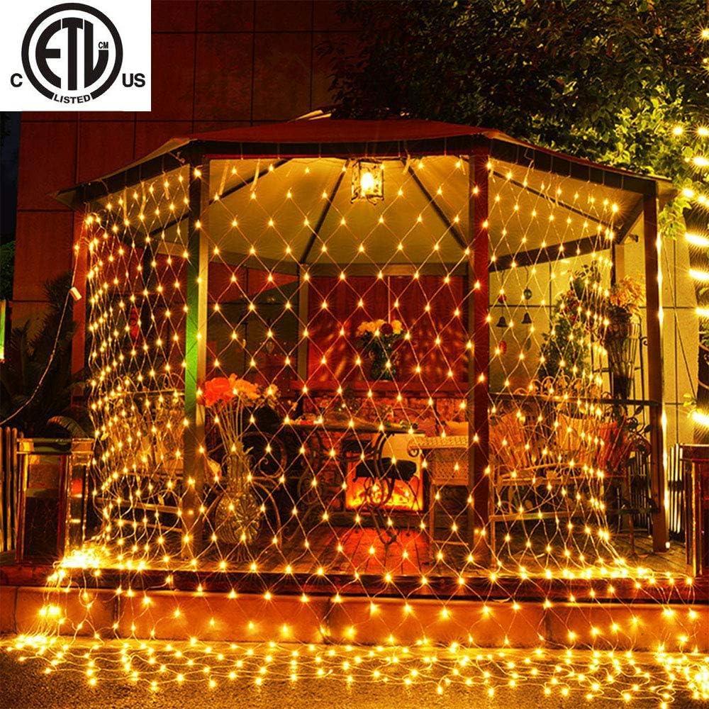 LED String Fairy Lights Net Mesh Curtain Xmas Party Wedding Home Door Lamp Light
