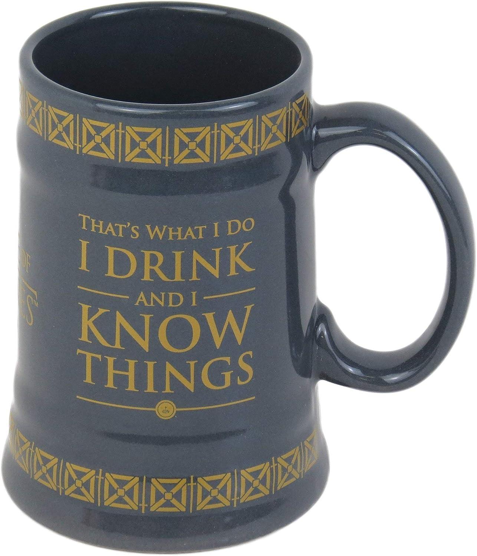 Game Of Thrones Juego de Tronos Bebida y Conocimiento Cosas Stein, Cerámica, Multicolor 13,6 x 10,4 x 14,9 cm