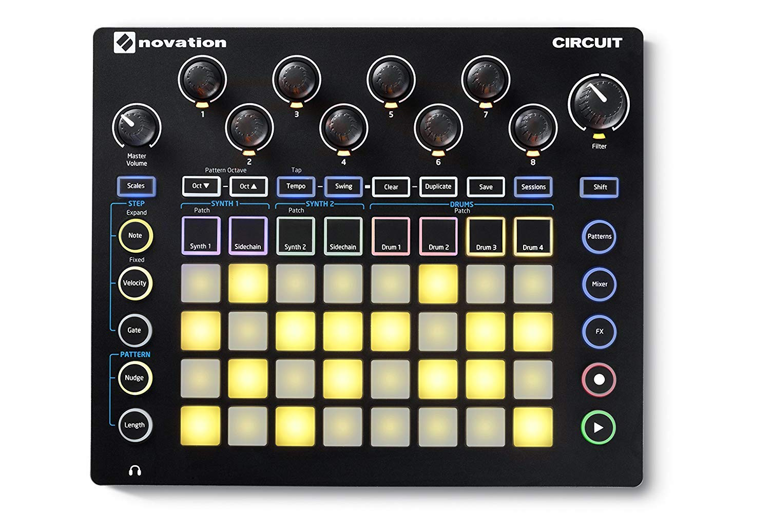 Novation Circuit Groovebox with Sample Import Bundle with 4 MXR Patch Cables and 10ft MXR Instrument Cable by Briskdrop (Image #6)