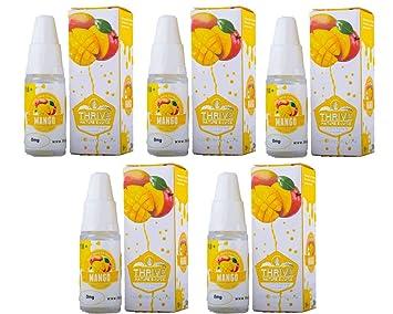 Pack of 5) Mango Thrive - Flavoured Nicotine Free E-Juice/ E
