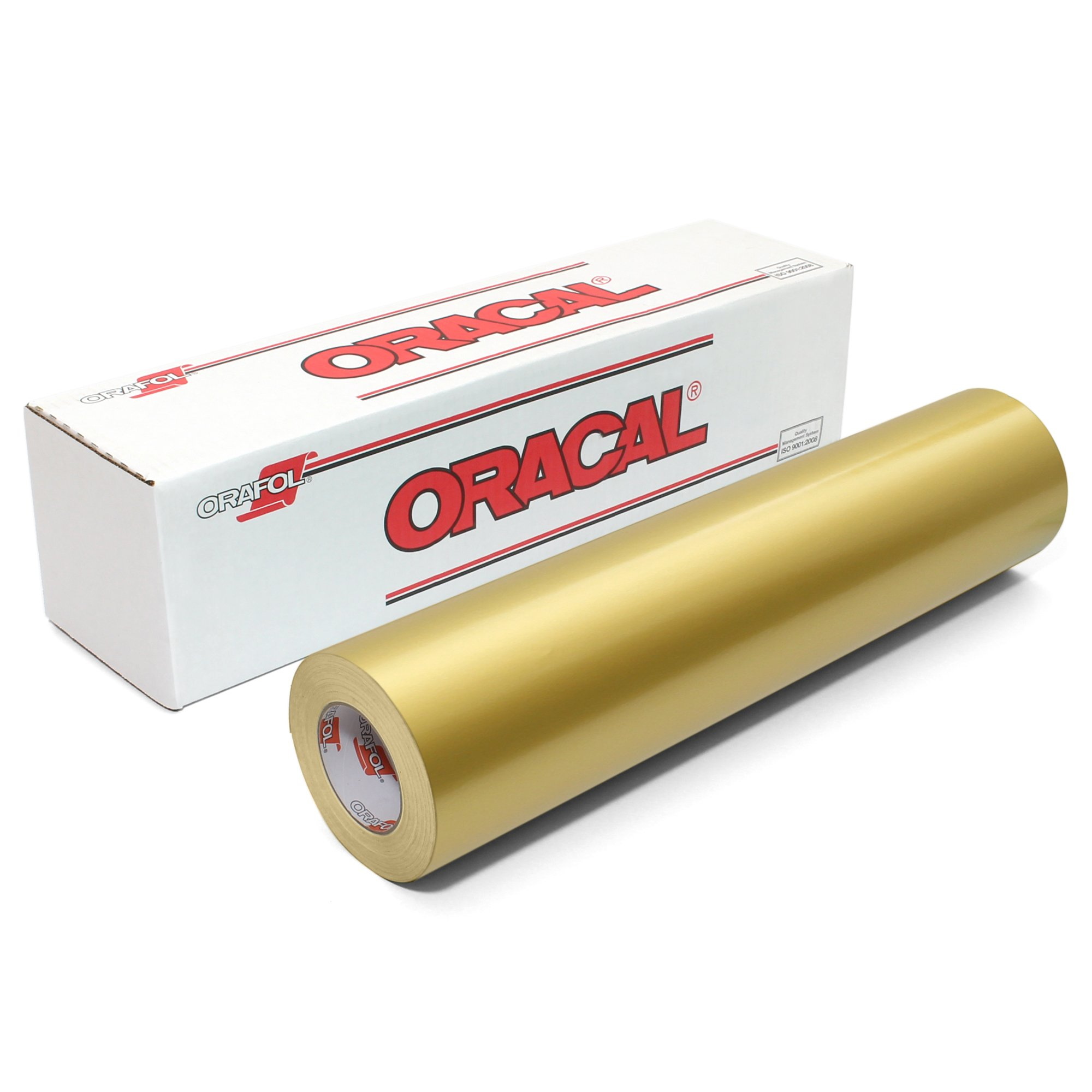 Oracal 651 Glossy Vinyl Roll 24 Inches by 150 Feet - Gold (metallic)