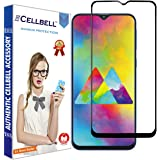 Cellbell Tempered Glass for Samsung Galaxy M20 (Black) Edge to Edge Full Screen Coverage with easy installation kit