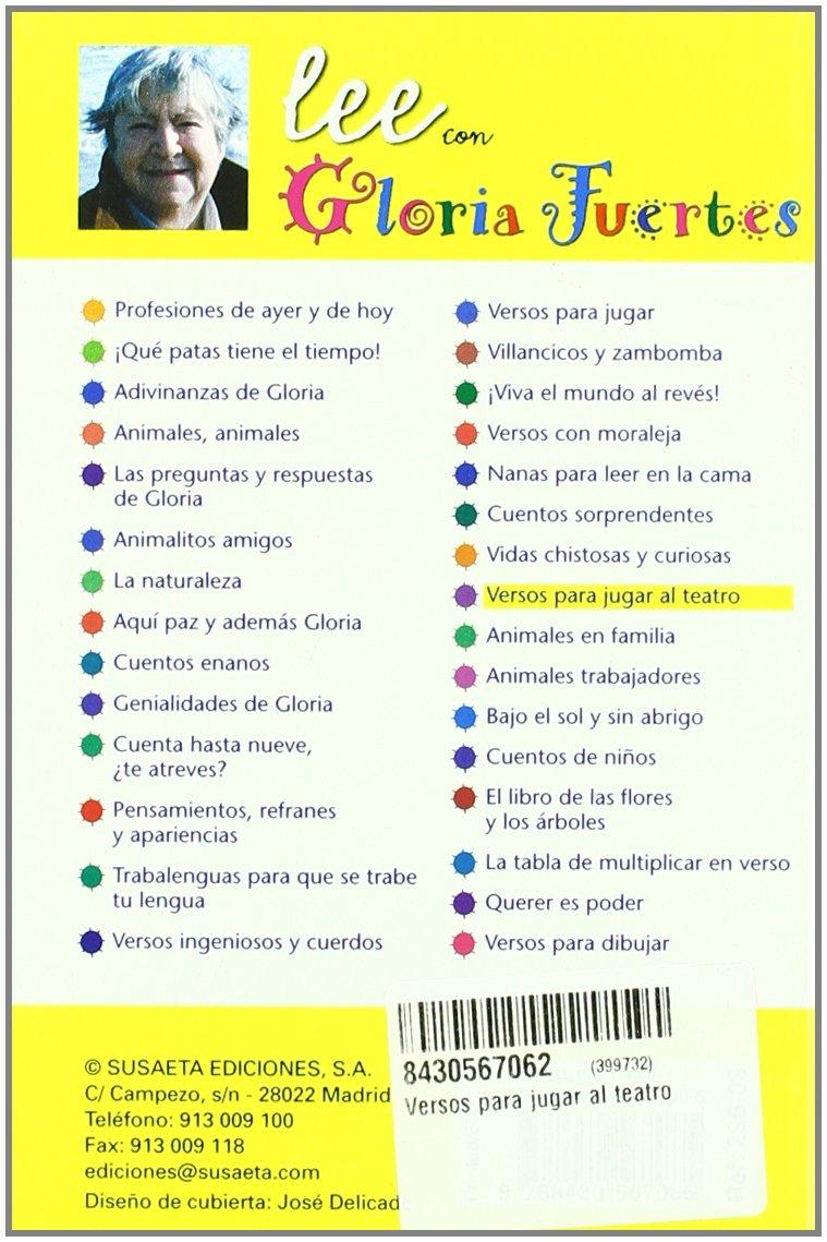 Versos para jugar al teatro: Susaeta Ediciones: 9788430567065: Amazon.com: Books