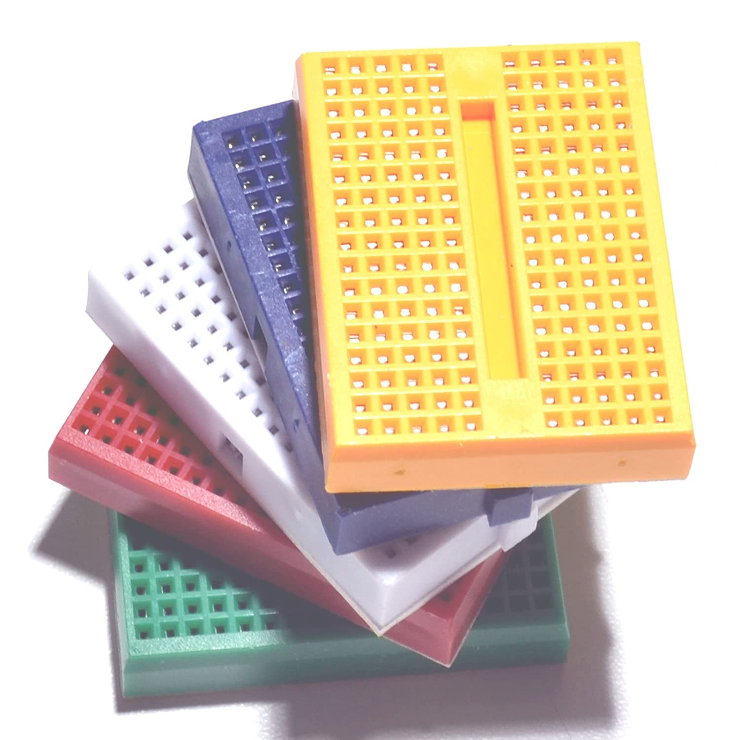 HiLetgo 5pcs SYB-170 Mini Breadboard Colorful Breadboard Small Plates [Office Product] 3-01-0633