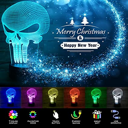 Led Table Lamps The Cheapest Price 3d Led Lamp Light Usb Skull Colorful Night Light For Wedding Deco Innovative Christmas Gift Present Table Lamp