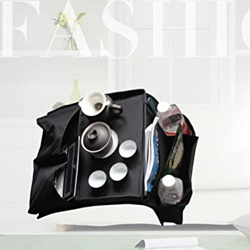Top-Spring 6 bolsillos sofá apoyabrazos organizador mando a distancia bandeja Holder bolsa de almacenamiento para el hogar: Amazon.es: Juguetes y juegos
