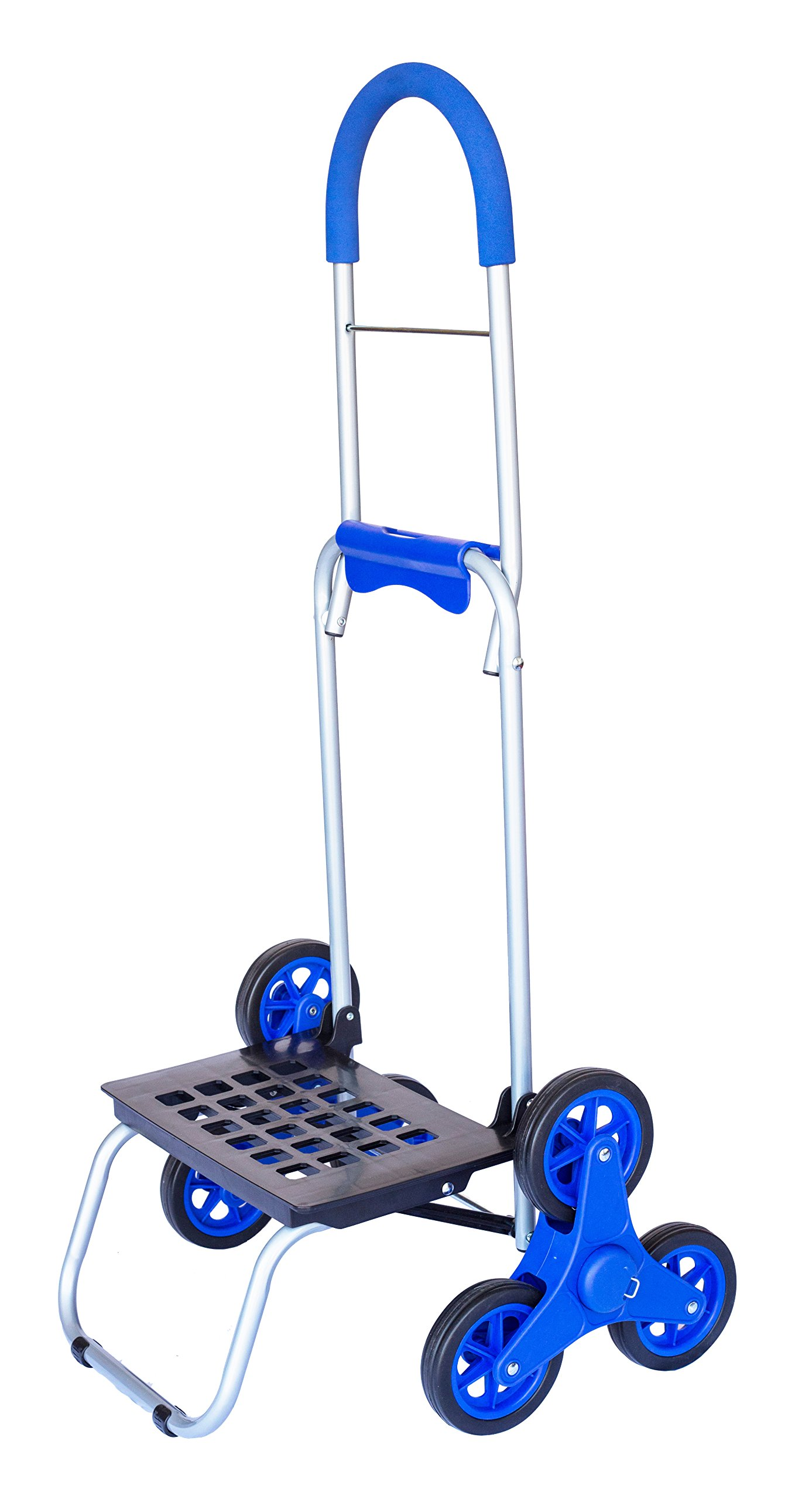 dbest products Stair Climber Trolley Dolly, Blue Shopping Grocery Foldable Cart Condo Apartment by dbest products (Image #3)