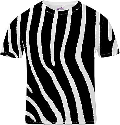 Bang Tidy Clothing Camisetas Totalmente Impresas por sublimación para Hombre con Zebra Ropa para Festivales: Amazon.es: Ropa y accesorios