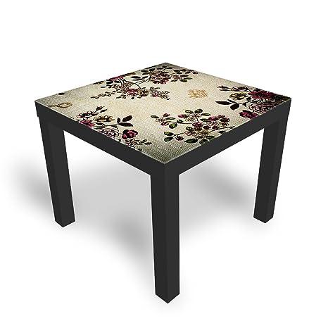 Tavolino Da Divano Ikea.Soggiorno Tavolino Da Salotto Con Piano In Vetro Graffiti Dekoglas