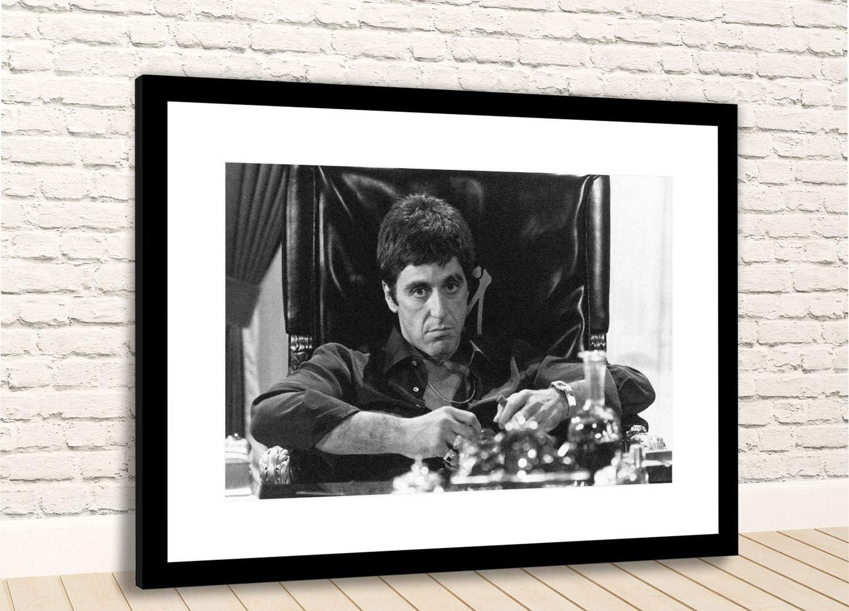 SCARFACE CANVAS WALL ART Tony Montana Movie Print *VARIOUS SIZES*