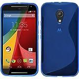 PhoneNatic Custodia Motorola Moto G 2014 2. Generation Cover blu S-Style Moto G 2014 2. Generation in silicone + pellicola protettiva