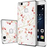"Huawei P9 Lite Funda , ivencase Transparente Silicona TPU de Flexibilidad Carcasa Case Bumper Ultra Delgado Espalda Case Cover para Huawei P9 Lite 5.2"""