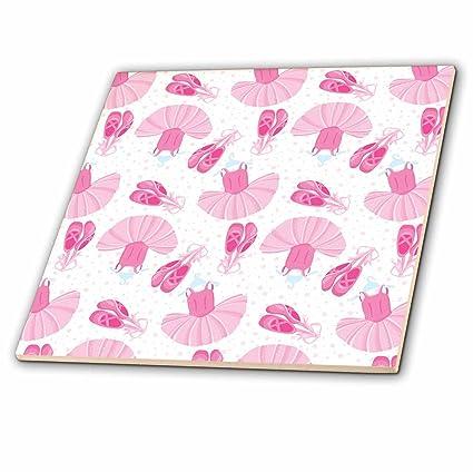 219ebb7f9427b Amazon.com: 3dRose Anne Marie Baugh - Patterns - Cute Pink Ballet ...