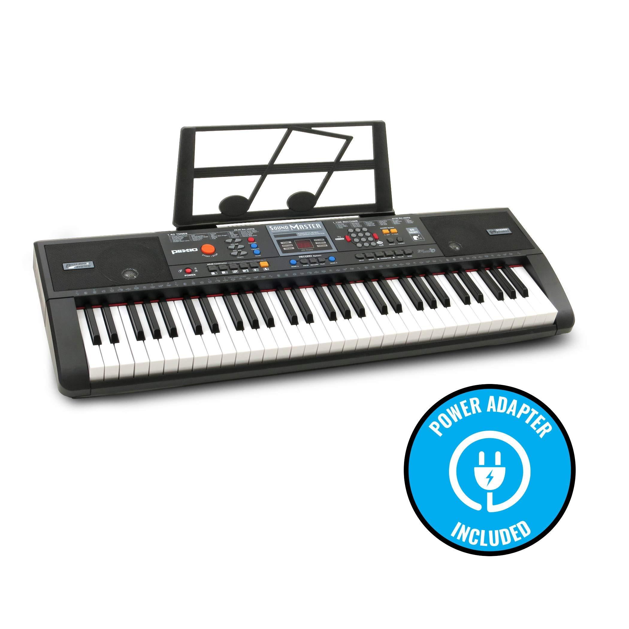 Plixio 61-Key Digital Electric Piano Keyboard & Sheet Music Stand - Portable Electronic Keyboard for Beginners (Kids & Adults) (Renewed) by Plixio (Image #5)