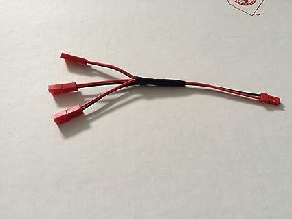 amazon com traxxas vxl dual fan wiring harness jst plug splitter traxxas vxl dual fan wiring harness jst plug splitter 1m3f plug play