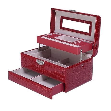 Amazoncom Giantex Jewelry Box Storage Organizer Case Ring Earring