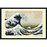 Framed Art Print, The Great Wave off the Coast of Kanagawa, 1831' by Katsushika Hokusai: Outer Size 37 x 25