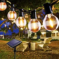 Fochea Lichtsnoer voor buiten, 5,5 m, led-lichtsnoer op zonne-energie, voor buiten, 4 modi, voor patio party, buiten…