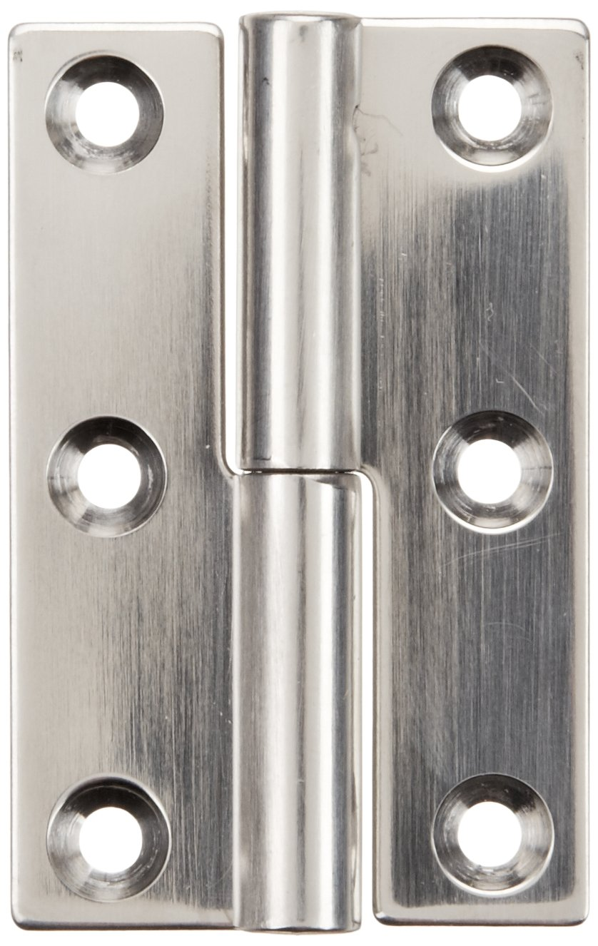 Sugatsune KN 50R SS Lift Off Hinge Stainless Steel 304 Polished Finish Right Handedness 1.5mm Leaf Thickness 32mm Open Width 7.5mm Pin Diameter