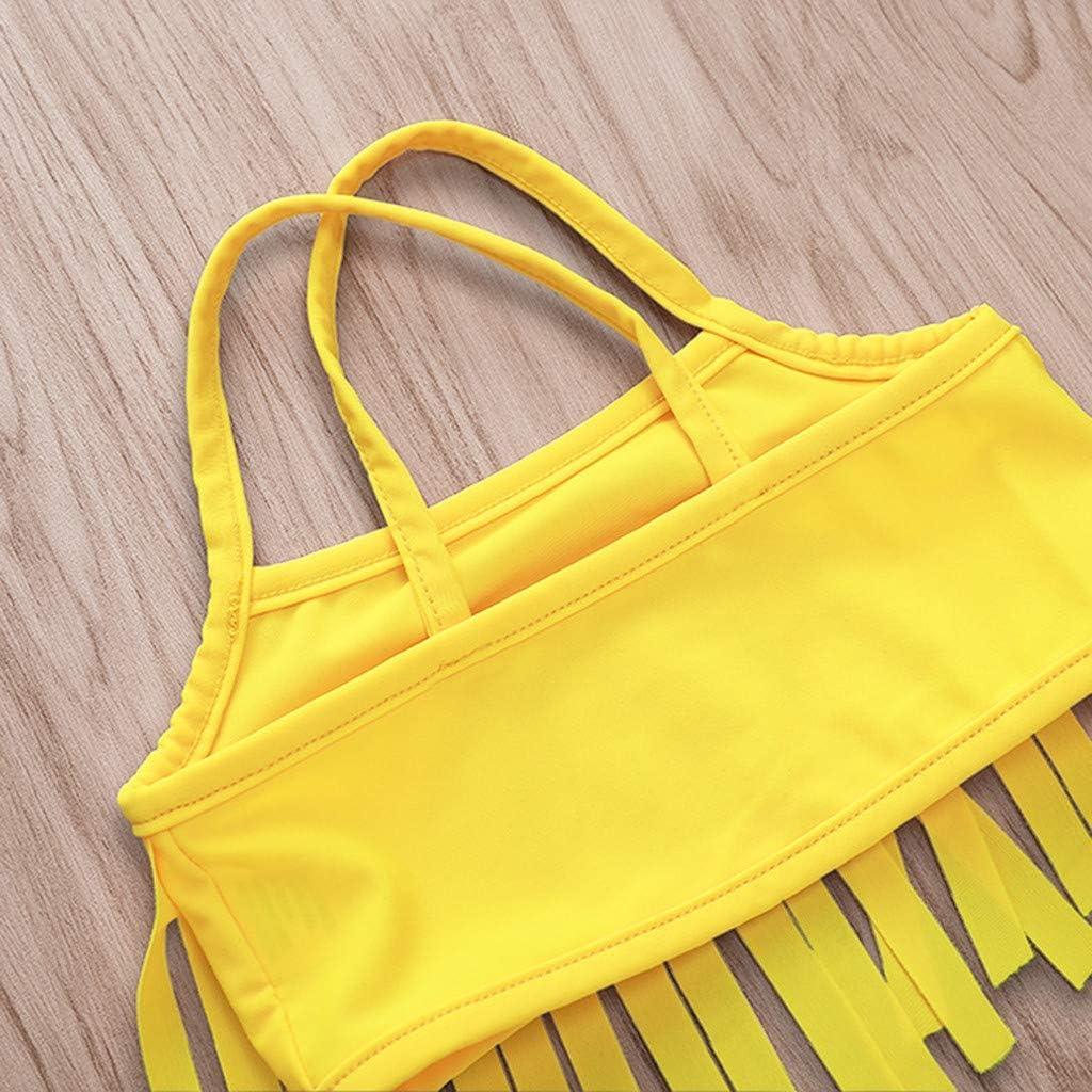 Cathy Clara Kids Baby Girl Fruit Print Tassel Bikini Beach Swimsuit Bathing Swimwear Sets