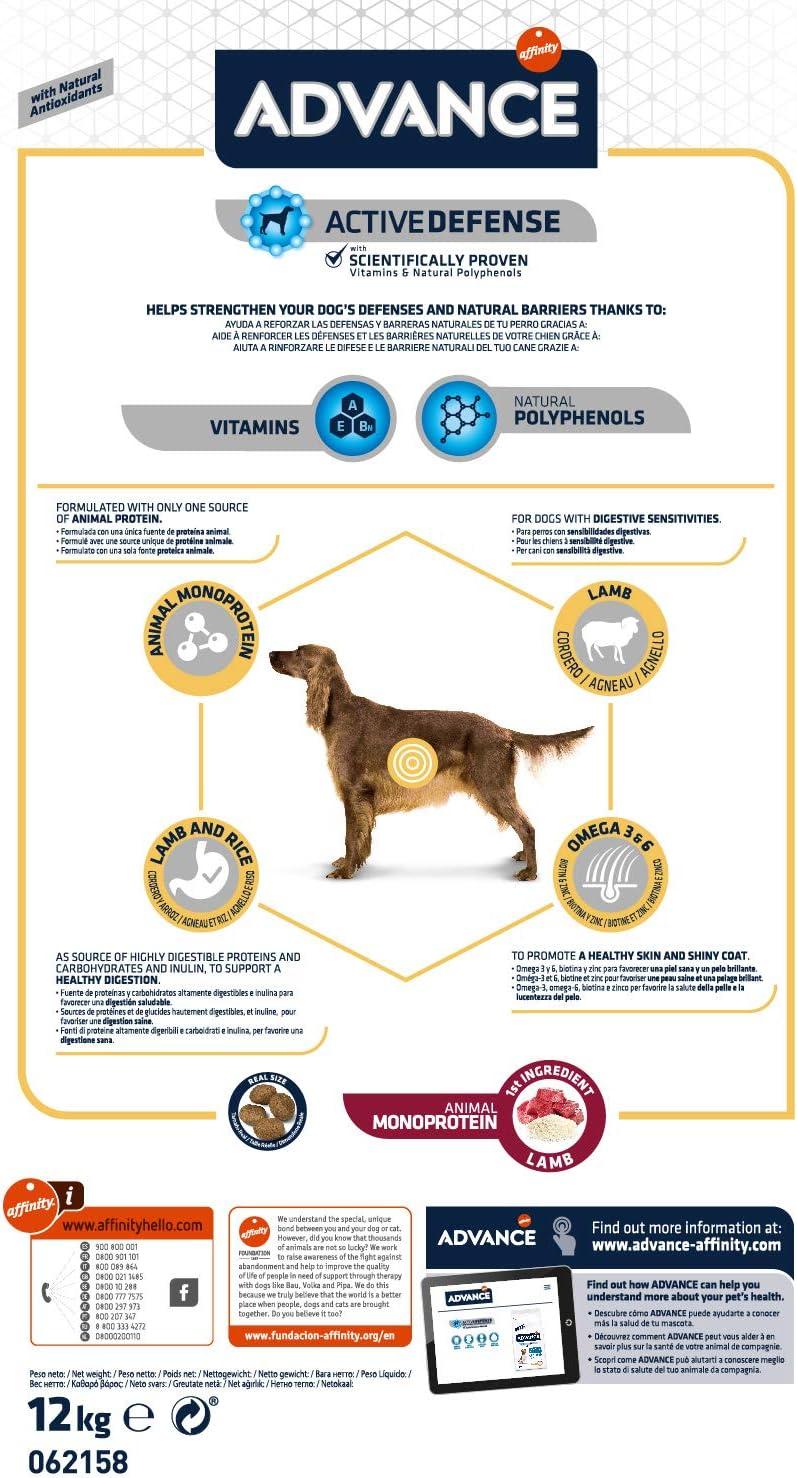 ADVANCE Sensitive Medium/Maxi - Pienso Para Perros Adultos De ...