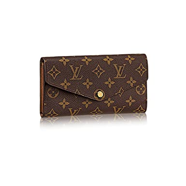 fd5e443b1ae7 Image Unavailable. Image not available for. Color  Authentic Louis Vuitton  Monogram Canvas Sarah Wallet ...