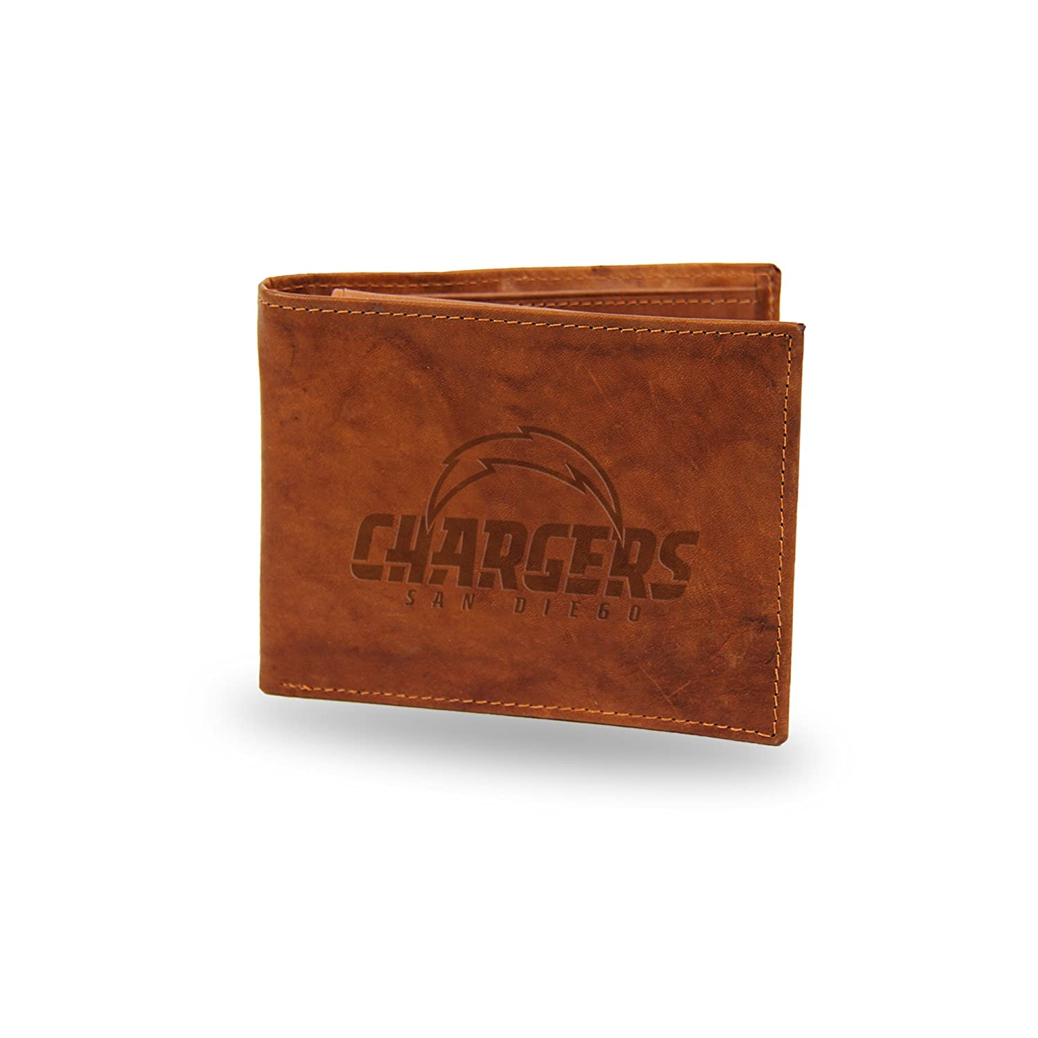 NFL San Diego Chargers Embossed Genuine Cowhide Leather Passcase