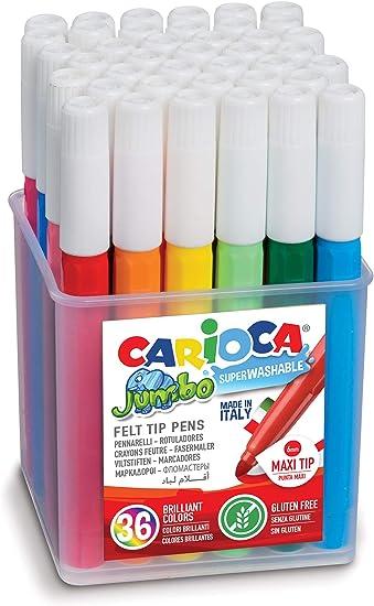 Carioca A52060036 - Pack de 36 rotuladores: Amazon.es: Oficina y ...