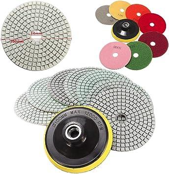 Wet Dry Diamond Polishing Pads 5 Inch Set Kit For Granite Concrete Marble Polish