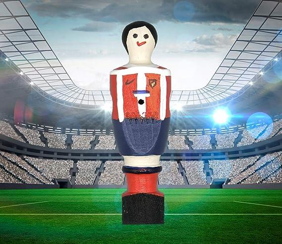 Soccer Table SL Individual Jugador de Futbolín Atletico con imán, presentado en una Exclusiva Caja expositora, Color Rojo y Blanco (art-067): Amazon.es: Juguetes y juegos