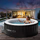 CosySpa Inflatable Hot Tub Spa – Outdoor Bubble Jacuzzi | 2-6 Person Capacity – Quick Heating (Hot Tub Only - 2-4 Person…