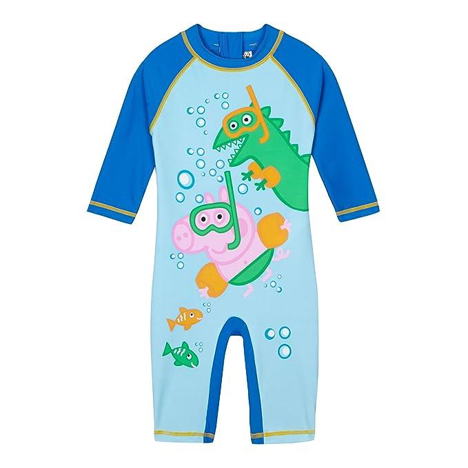 aa9ad7d85 Boys' Blue 'Peppa Pig' George Sun-Safe Swimsuit: Peppa Pig: Amazon ...