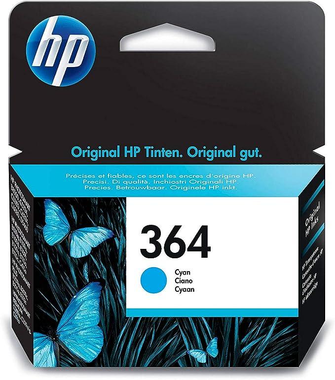 HP CB318EE 364 Cartucho de Tinta Original, 1 unidad, cian: Amazon.es: Oficina y papelería