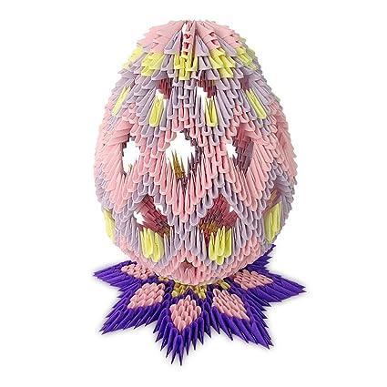 Amazon.com: 3d Modular Origami huevo de Pascua visualización ...