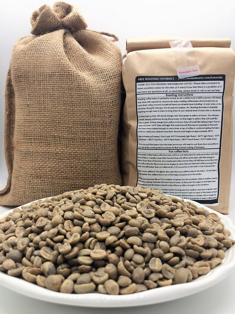 4 LBS – SWISS WATER DECAFFEINATED IN A BURLAP BAG Our Blend of Decaf Includes Beans from South America/Central America, Specialty-Grade Green Unroasted Whole Coffee Beans, for Home Coffee Roasters
