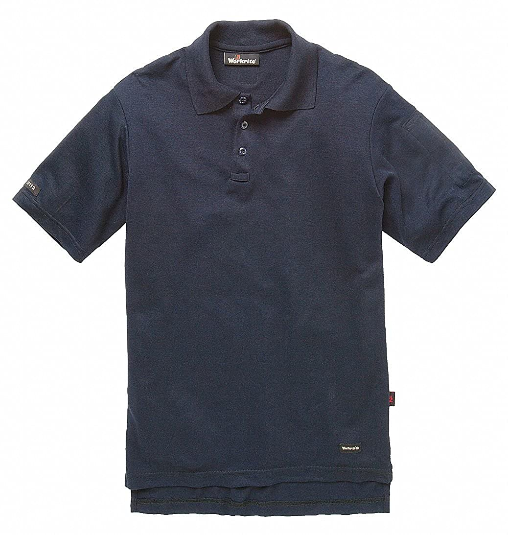 Navy Flame-Resistant Polo Shirt 8.2 cal.//cm2 ATPV Rating Size: LT Fits Chest Size: 39