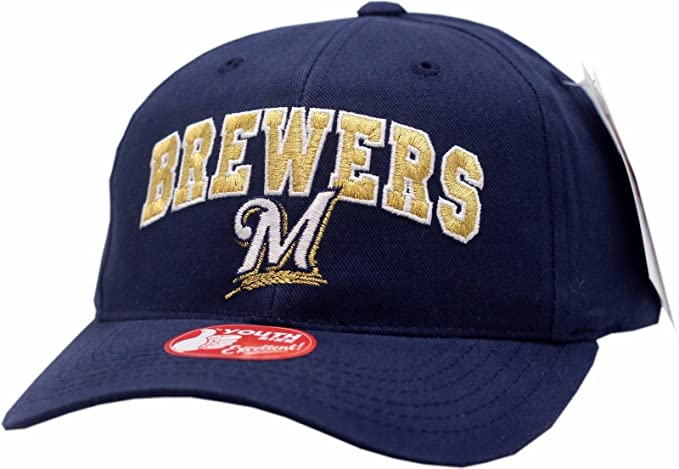 best service 2a496 ebd52 ebay milwaukee brewers youth snapback hat arched gold logo 7bf58 0c6e9