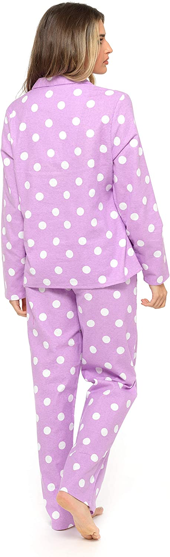 CityComfort Pigiama Donna Due Pezzi in Caldo Cotone con Bottoni E Pantaloni Lunghi S Idee Regalo per Lei XL