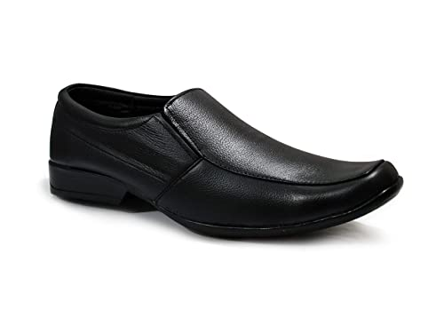 c3ee939bf0c feetway Genuine Leather Plain Without Lace Black Formal Shoes for ...