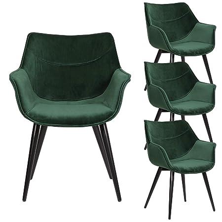 eSituro DC60 - Juego de 4 sillas esquineras de Cocina, Color ...