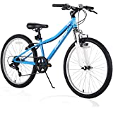 Hiland Climber 24 Inch Children Mountain Bike with Suspension Fork V Brake 4 Colors