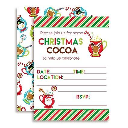 Amazon.com: Fun Holiday Hot Cocoa Fiesta de cumpleaños ...