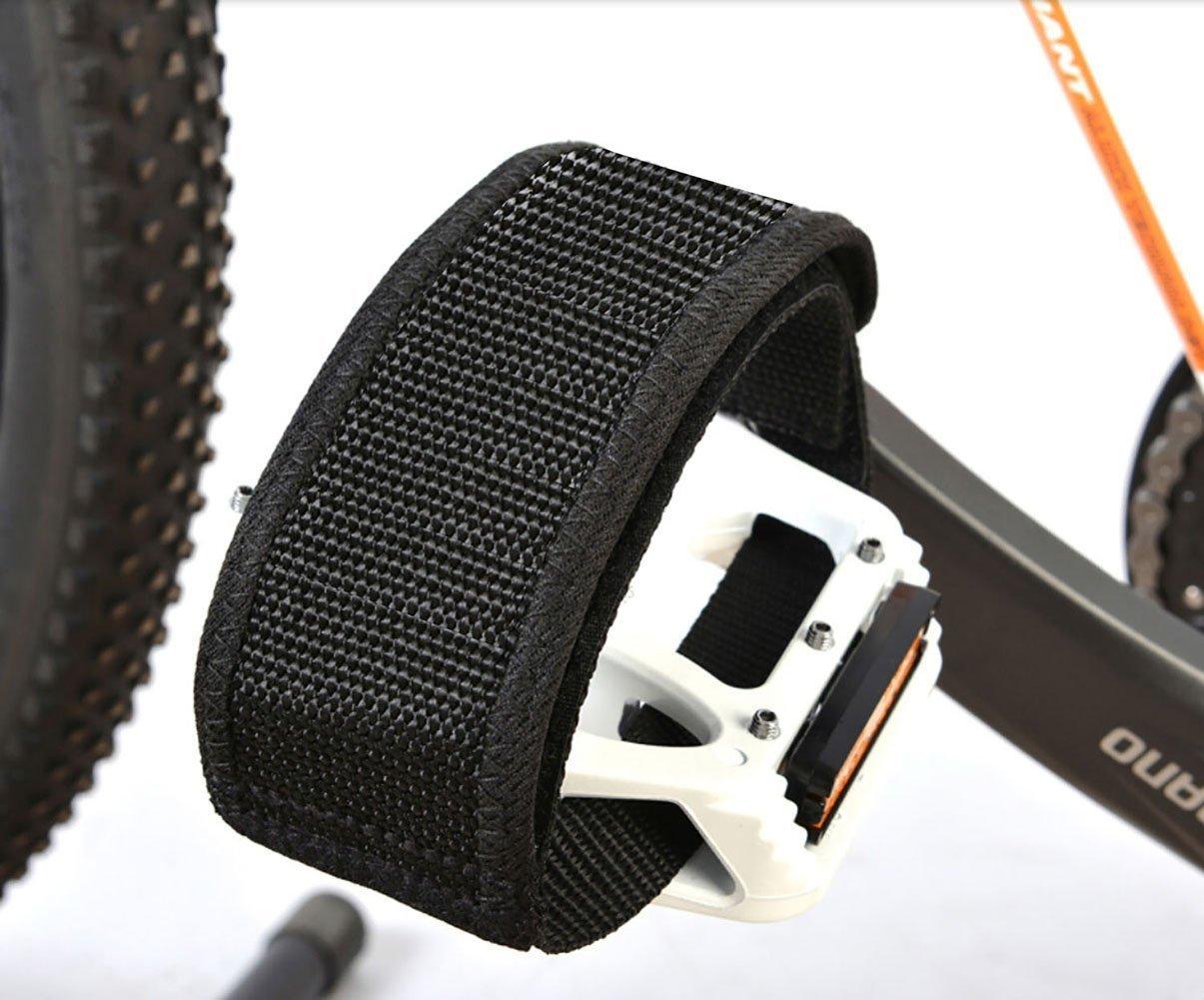 wommty correas de 1/par de pedal de bicicleta pedal Toe Clips Straps cinta para fijo Gear Bike Negro