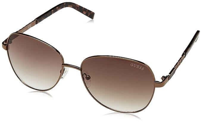 1ceda39f855f Guess Ladies Brown Gradient Lenses Sunglasses - GF 0256 S 45F 60-16-140   Amazon.co.uk  Clothing