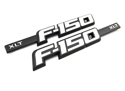 "3 PC EMBLEM KIT FENDER//TAILGATE /""NEW/"" TRUCK BLACK FORD F150 FX4 2009-2014 RED"