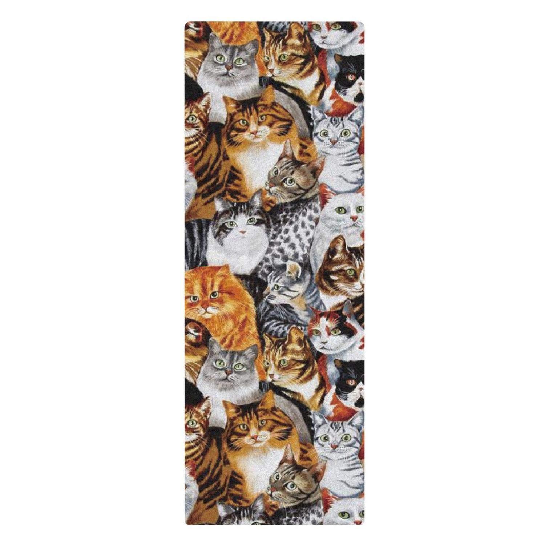 GLPOIGMNIJTID - Esterilla de yoga para gatos relajantes (71 ...