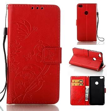 KATUMO Funda Movil Huawei P8 Lite 2017/P9 Lite 2017 Carcasa Protector Funda Piel Huawei P8 Lite 2017 Carcasas Book Cover Case Cubierta