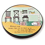 Demdaco Curly Girl Good Cook Round Lazy Susan, 15.5-Inch