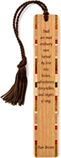 product image for Dad Quote by Pam Brown - Engraved Wooden Bookmark with Tassel - Search B07Q78BFKV to See Personalized Version